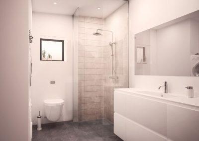 arkitekttegnet rækkehus bad