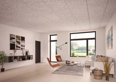 arkitekttegnet rækkehus stue
